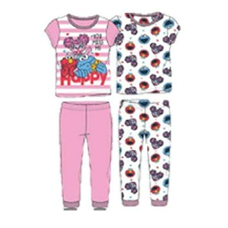 Elmo Baby Cookie Monster You Make me Happy 4 pc Cotton Pajamas (3t) Elmo Baby Clothes