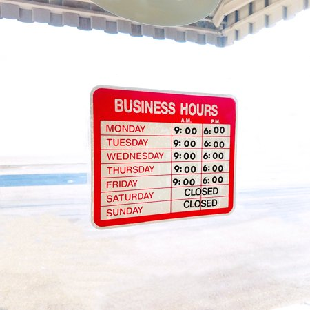 Static Cling Business Hours Open & Closed Window or Door Sign with Time Sheet Stickers Static Cling Window Signs