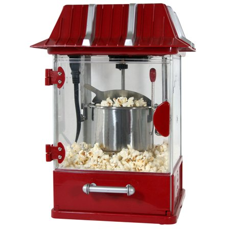 Vintage Theater Style Tabletop Popcorn Maker With Dishwasher Safe Tray
