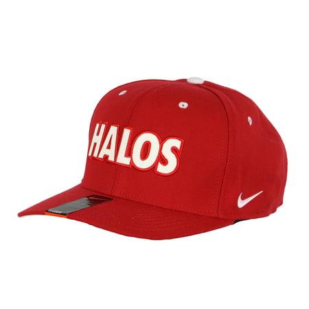 Anaheim Angels Cap - Nike Men's Los Angeles Angels of Anaheim Halos Flex Fit Cap One Size Red