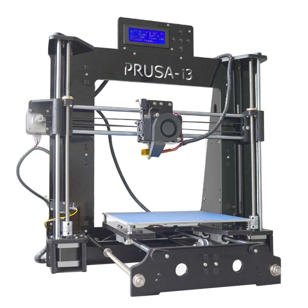 3D Printer P802D DIY 3D Printer Aluminum Desktop LCD Screen Large Printing Area(Black)