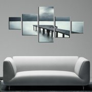 The Lighting Store 'The Pier' 5-piece Hand Painted Canvas Art Set