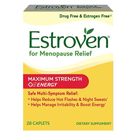- Estroven Maximum Strength + Energy, One Per Day, Multi-Symptom Menopause Relief: Black Cohosh, Soy Isoflavones, Green Tea Leaf Extract, Yerba Mate Leaf Extract, Magnolia Bark Extract, 28 Count
