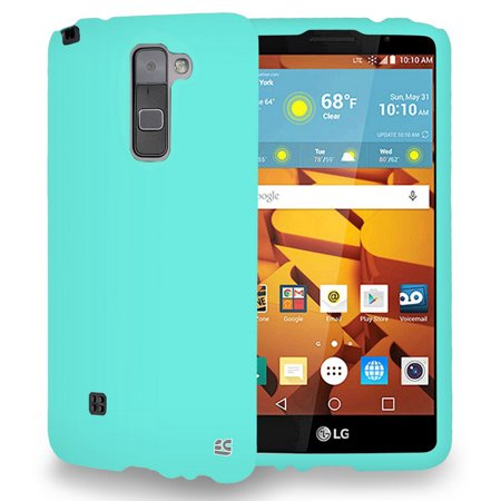 LG STYLO 2 COVER, MINT RUBBERIZED HARD SHELL PROTECTOR CASE COVER FOR LG STYLO-2 4G PHONE (Boost Mobile LS775, Cricket K520) (aka Stylus-2) ()