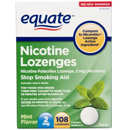 Equate Nicotine Lozenges, Mint Flavor, 2 mg, 108 Count