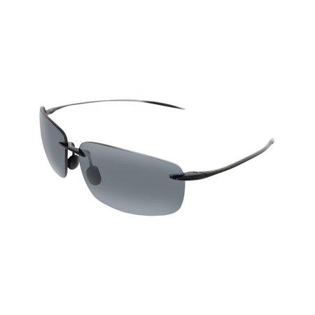 096240f711b2 Maui Jim - Maui Jim Men's Breakwall 422-02 Black Rimless Sunglasses -  Walmart.com
