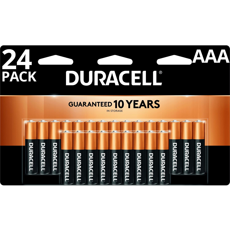 duracell 1 5v coppertop alkaline aaa batteries 24 pack. Black Bedroom Furniture Sets. Home Design Ideas