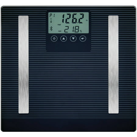 Detecto D303iConnect Smart Glass LCD Digital 8-in-1 Body Fat Scale