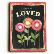 Artehouse LLC Three Flowers Planked by Flavia Graphic Art Plaque