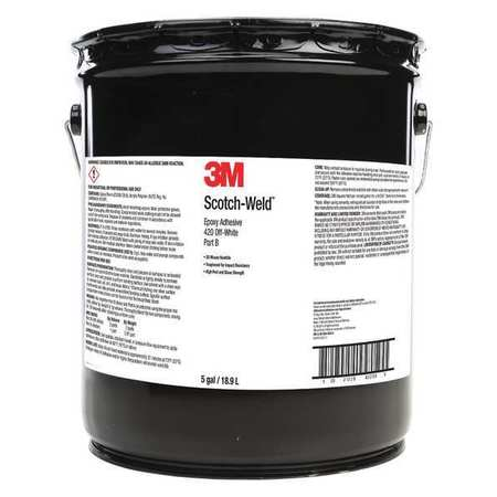 3M 460 Epoxy Adhesive, Part B, 5 gal, Off-White by 3M