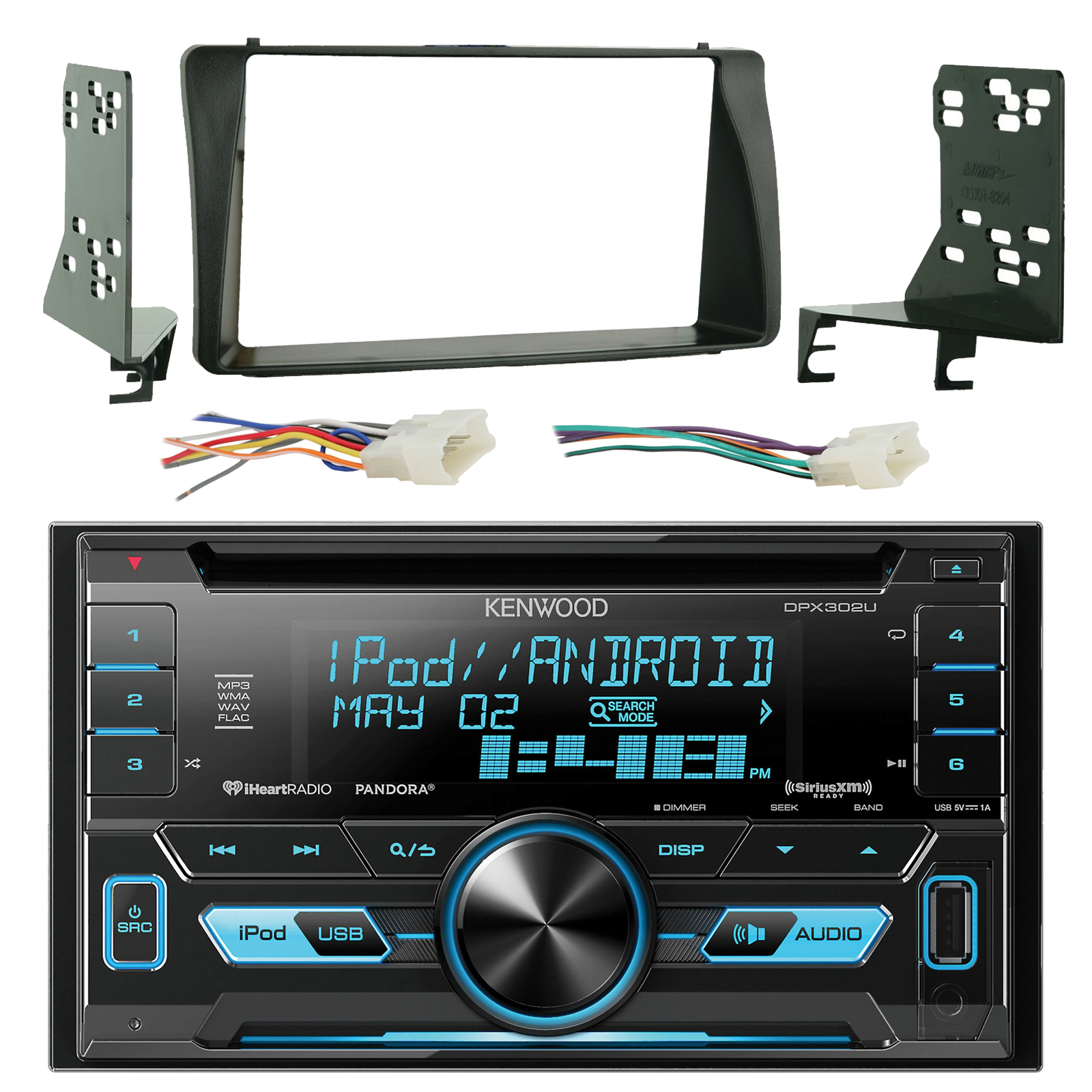 kenwood dpx302u double din cd mp3 player stereo receiver GM Factory Radio Wiring Harness Dash Wiring Harness