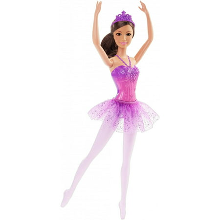 Barbie Ballerina Doll with Removable Purple Tutu & Tiara