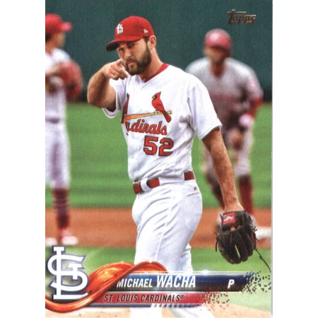 2018 Topps 51 Michael Wacha St Louis Cardinals Baseball Card