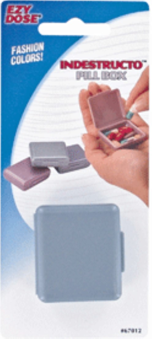 Ezy-Dose Indestructo Pill Box Fashion Colors 1 Each (Pack of 3) -  Walmart.com - Walmart.com