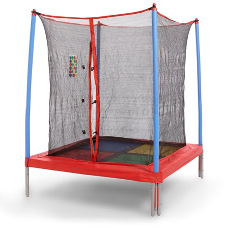 Skywalker 5' Square Bounce-n-Learn Interactive Game Trampoline