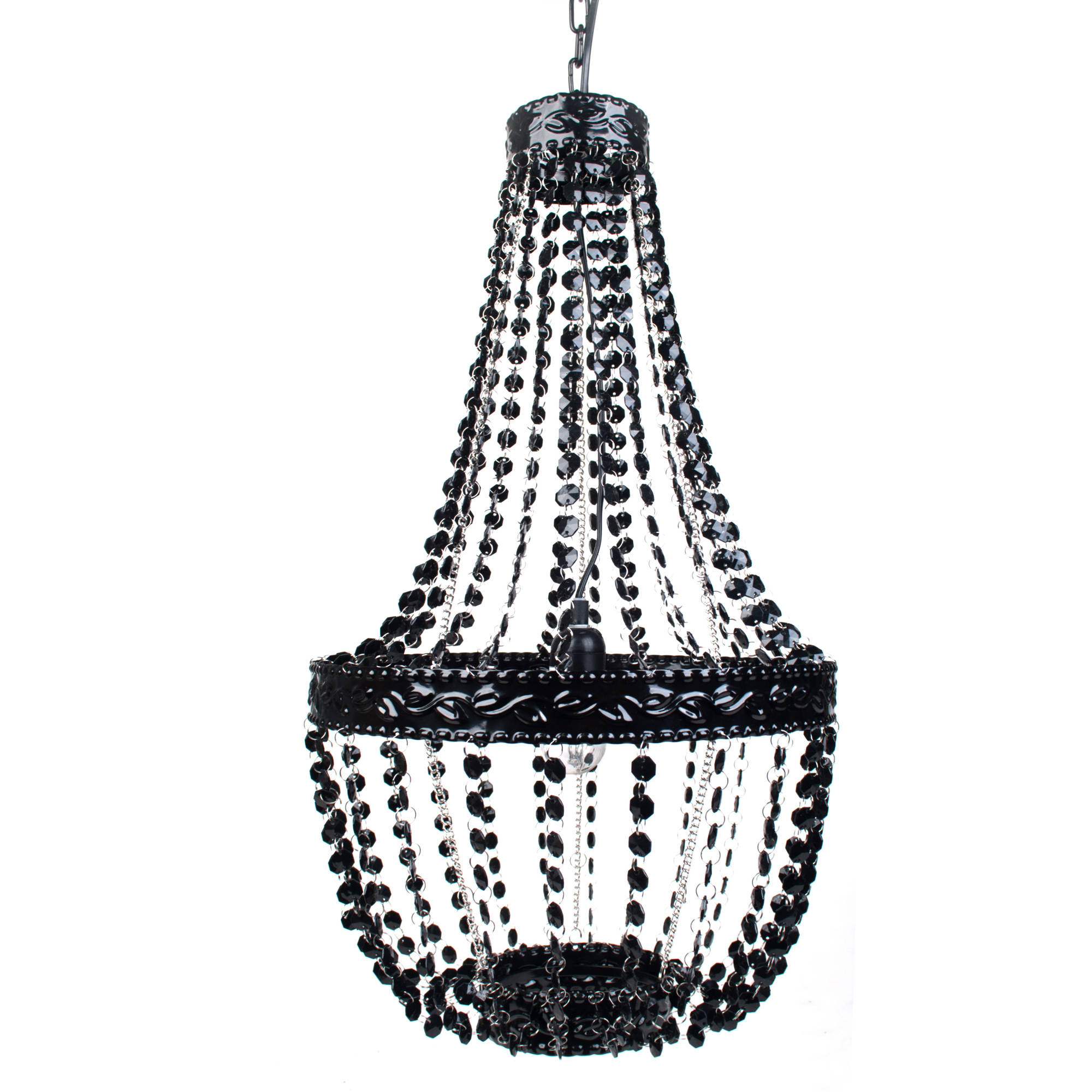Tadpoles Beaded Chandelier, Black Onyx