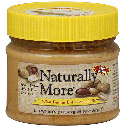Naturally More Peanut Butter, 16 oz (Pack of 12)