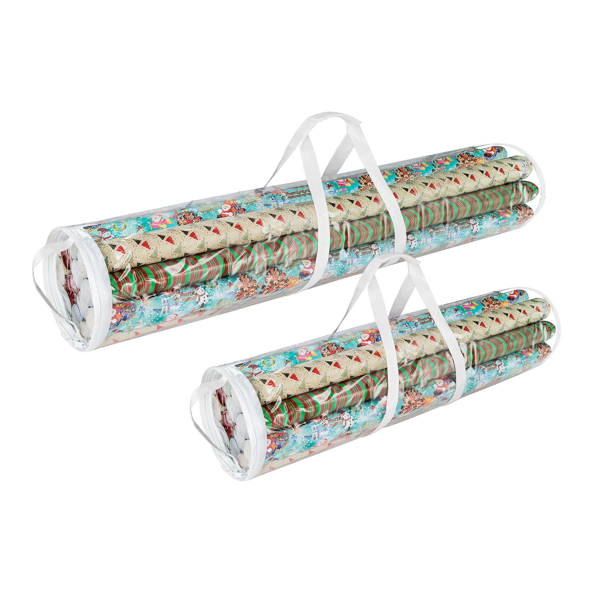 "Elf Stor Christmas Wrapping Paper Wrap Storage Bag Set 40"" & 31"""