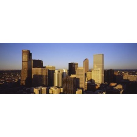Skyscrapers in a city Denver Colorado USA Canvas Art - Panoramic Images (15 x 6) (Outlet-shopping In Colorado)