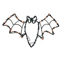 "15"" Lighted Bat Halloween Window Silhouette Decoration"