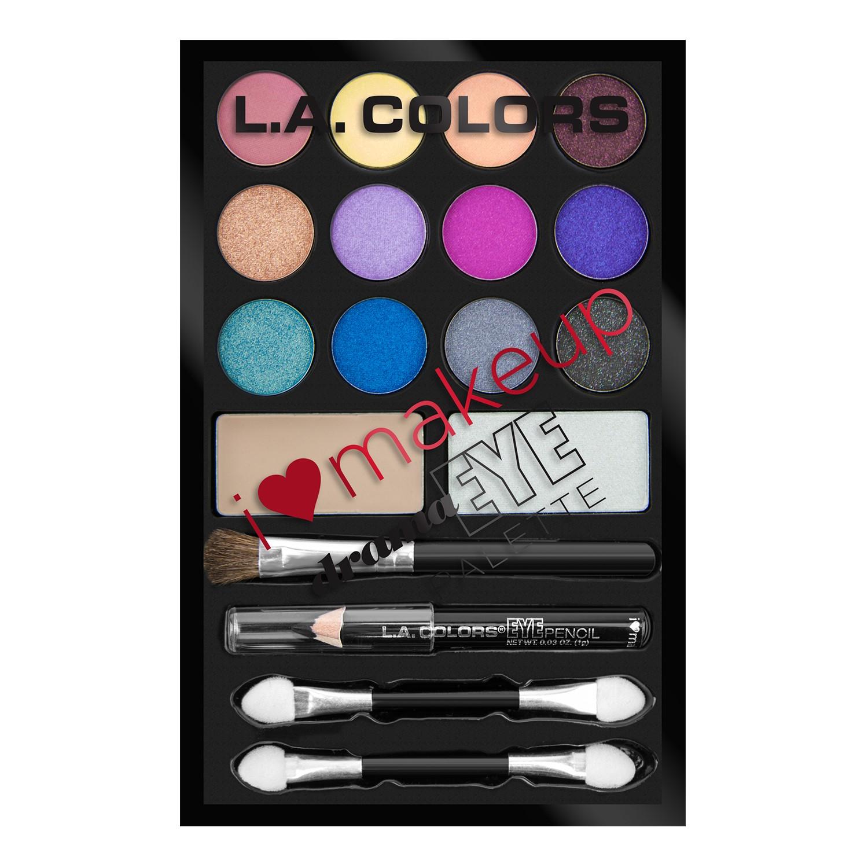 LA Colors I Heart Makeup 18-Color Eyeshadow Palette, Dazzling