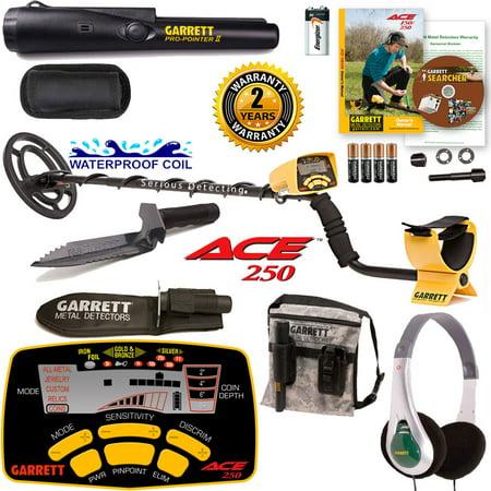 Garrett ACE 250 Detector w/ Digger, Pro-Pointer II, Pouch &