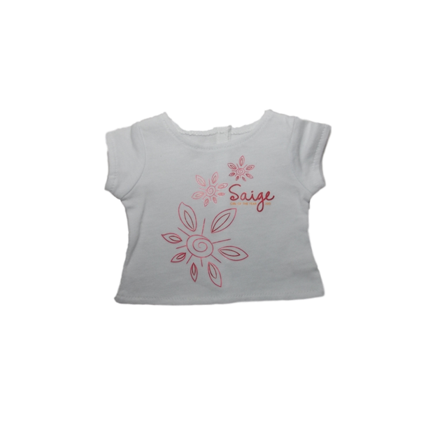 American Girl Ltd Ed Saige S Floral Tee For Dolls Silver New Limited Edition Walmart Com Walmart Com