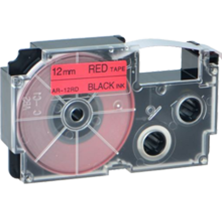 "Zoomtoner Compatible for KL-7200 Casio Black on Red Cassette Label Tape 12MM / 1/2"" - 8M / 26' - image 1 of 1"
