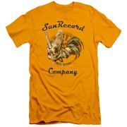 Sun Records Men's  Rockin Rooster Logo Slim Fit T-shirt Blue