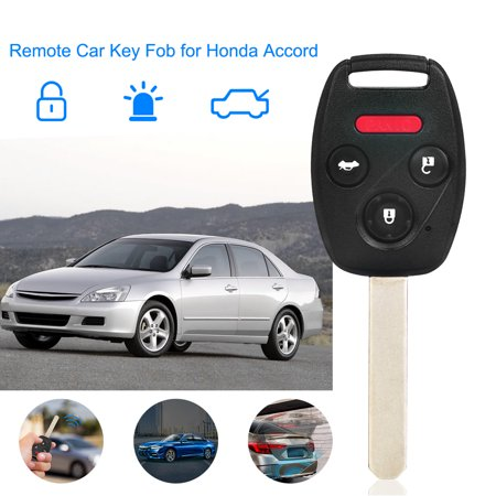 iMounTEK 3 Plus 1 Remote Control Car Key Key Fob Case Shell Chip Alarm System for Honda Accord 2003-2007 oucg8d-380h-a Honda Alarm System