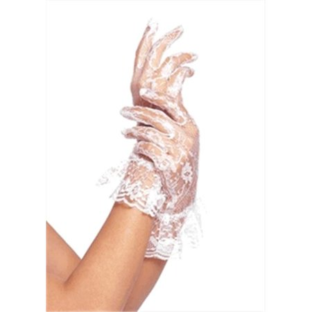 Beyco 3199B Lace Wrist Length Half Finger Glove with Ruffle, Black (Black Fluted Half Lace)