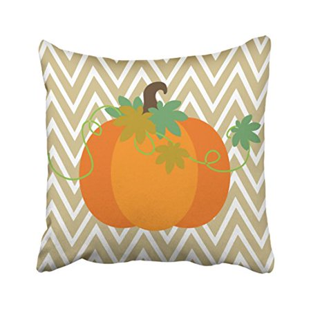 WinHome Cute Vintage Fall Pumpkin Chevron Zigzag Pattern Polyester 18 x 18 Inch Square Throw Pillow Covers With Hidden Zipper Home Sofa Cushion Decorative Pillowcases - Hulk Pumpkin Pattern