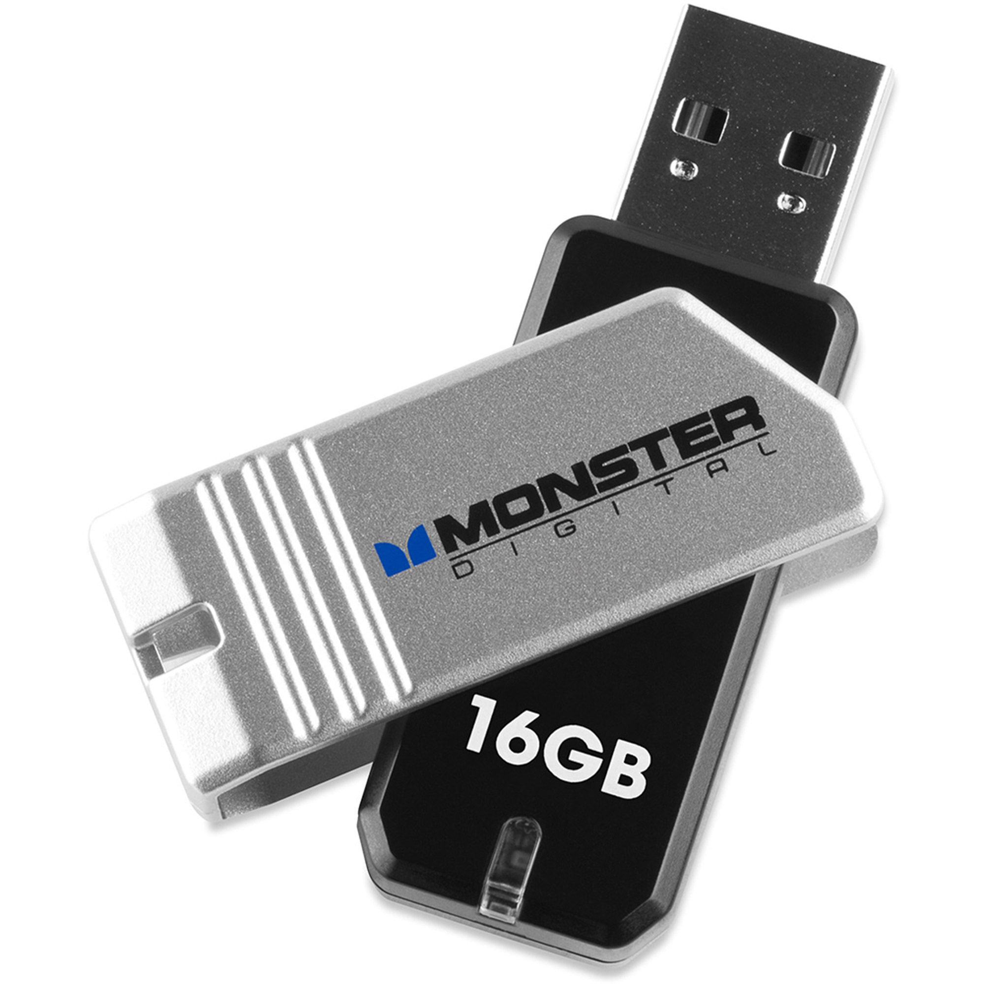 Monster Digital USBCO-0016-A USB 2.0 High Speed Flash Drive with Twist Cap COPPA 2.0 Series