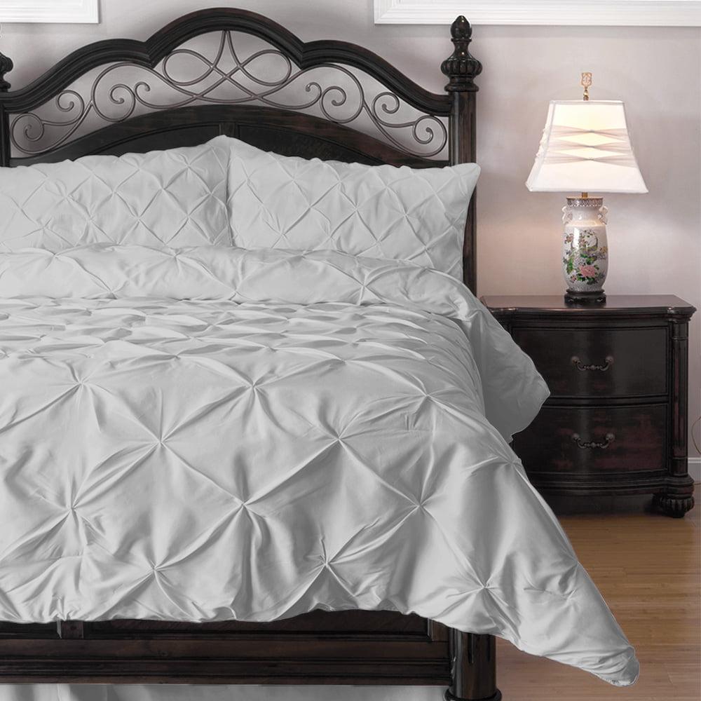 eLuxury Queen Hypoallergenic Comforter Set with Pillow Shams, Lightweight Down Alternative Fill, Black