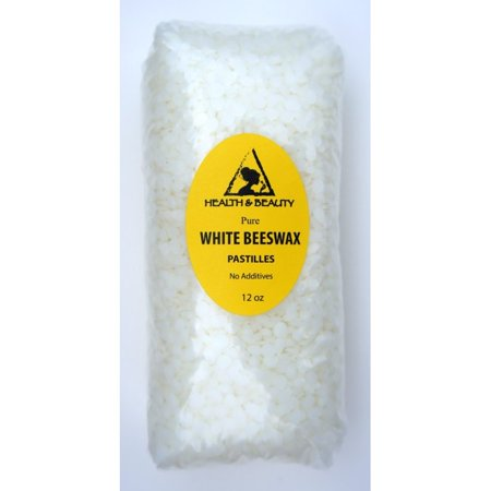 WHITE BEESWAX BEES WAX ORGANIC PASTILLES BEARDS PREMIUM 100% PURE 12 OZ