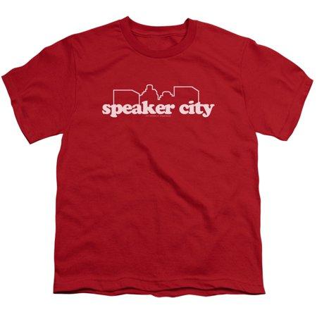 Old School Speaker City Logo Big Boys Youth Shirt