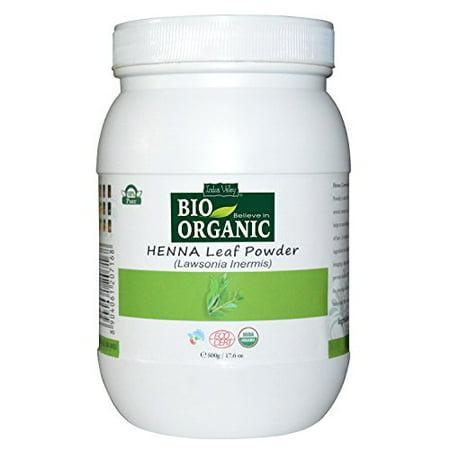 Indus Valley 100 Percent Organic Henna Leaf Powder, 500g - Henna Leaf Powder