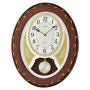 Seiko Melodies in Motion Musical Wall Clock with Swinging Pendulum