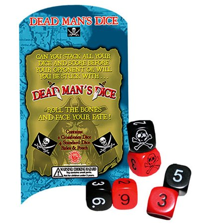 Channel Craft Dead Man's Dice Game- Stack Your Dice and Plunder Your Opponent's Dice!