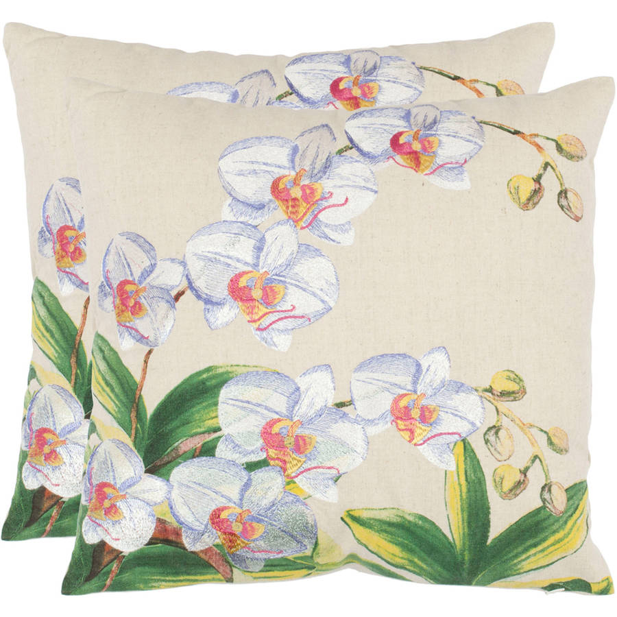 "Safavieh Pellicia 18"" x 18"" Eggshell Pillow, Set of 2"