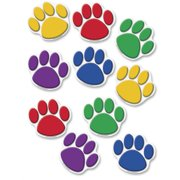 Teacher Created Resources, TCR4114, Color Paw Prints Accents, 30 / Pack, Assorted
