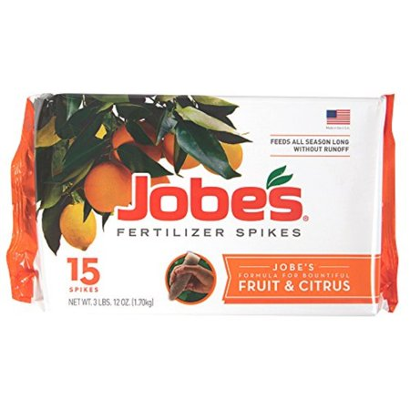 jobe's fruit and citrus tree fertilizer spikes, 15 pack ()