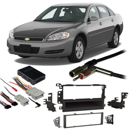 Fits Chevy Impala 2000-2005 Single DIN Stereo Harness Radio Install Dash Kit ()