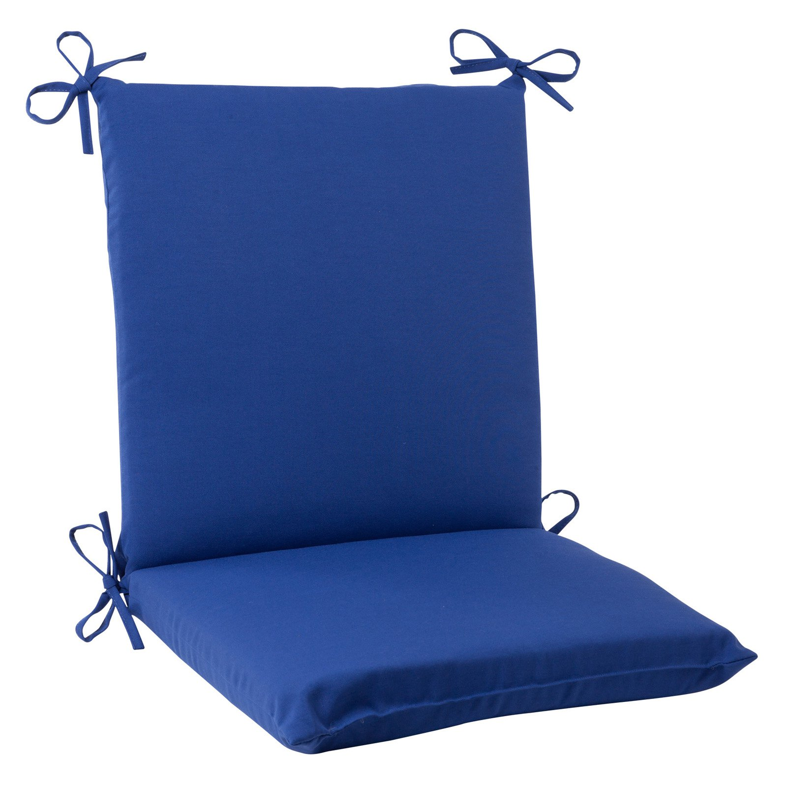 Pillow Perfect Outdoor/ Indoor Fresco Navy Squared Corners Chair Cushion