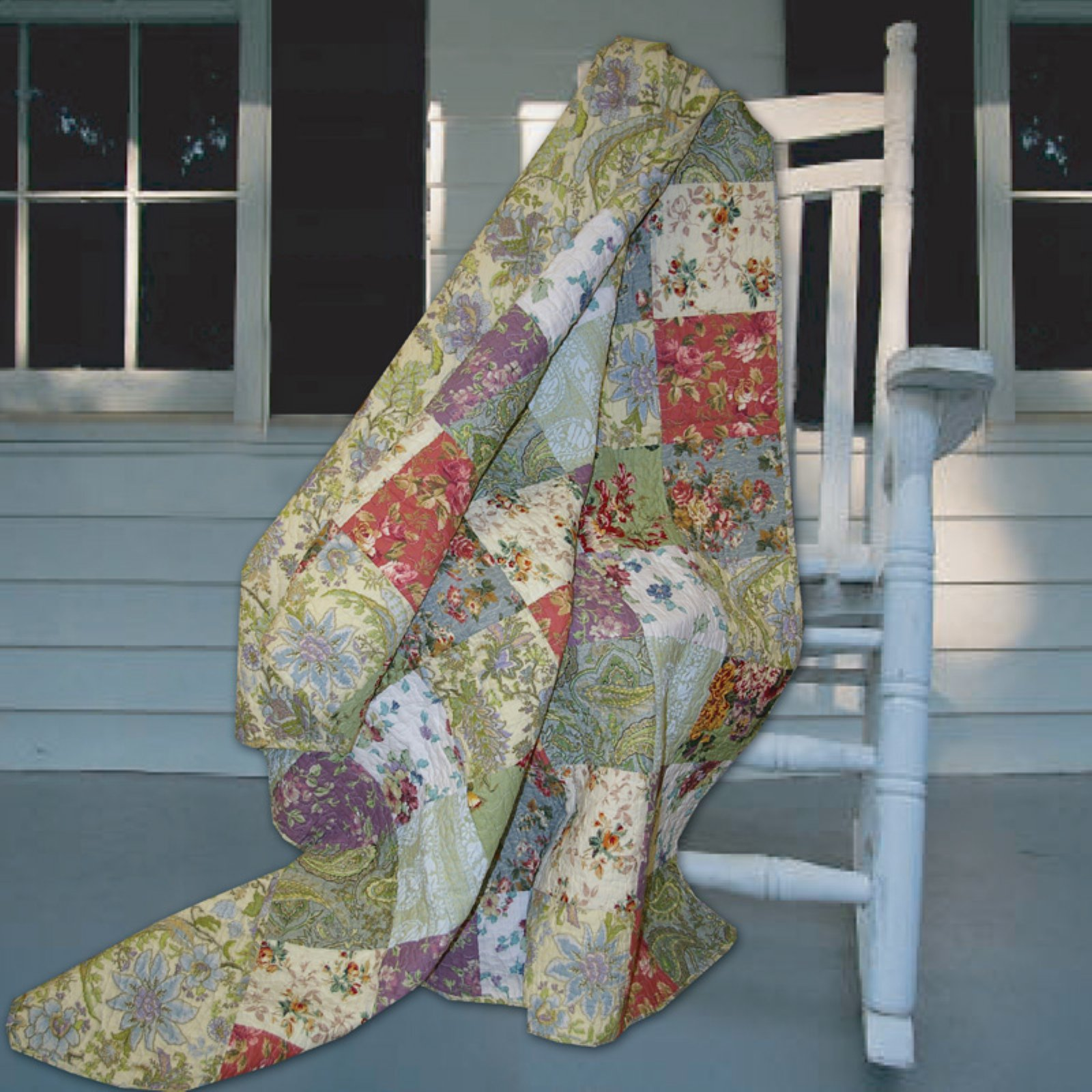 Greenland Home Fashions Blooming Prairie - 50W x 60L in. Quilted Throw