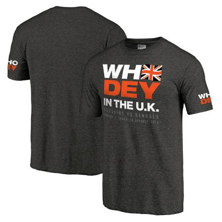 Cincinnati Bengals NFL Pro Line Who Dey in the UK T-Shirt - Black