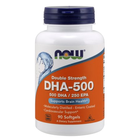 NOW Supplements, DHA-500, Molecularly Distilled, 90 Softgels