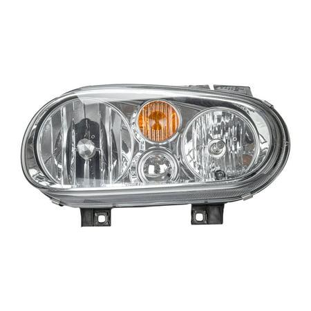 Volkswagen Golf Headlamp Headlight Lamp (TYC 20-6473-70 Right Headlight Assembly for 2002-2005 Volkswagen Golf VW2503123)