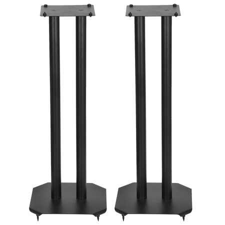 Surround Sound Stands - Zeny Set of 2 Heavy Duty Premium Universal Floor Speaker Stands for Surround Sound & Book Shelf Speakers Up to 22 lbs