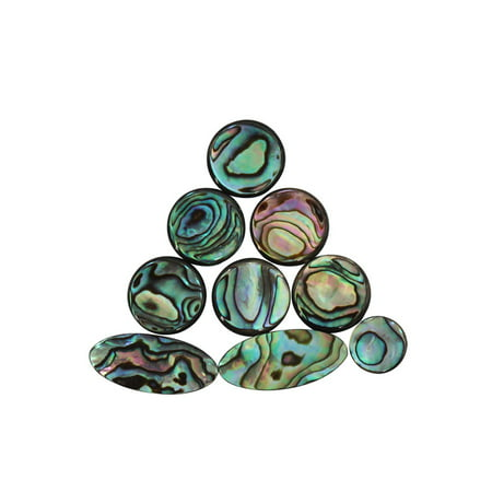 - 9pcs Colorful Abalone Shell Key Button Inlays for Tenor/ Alto/ Soprano Sax Saxophone
